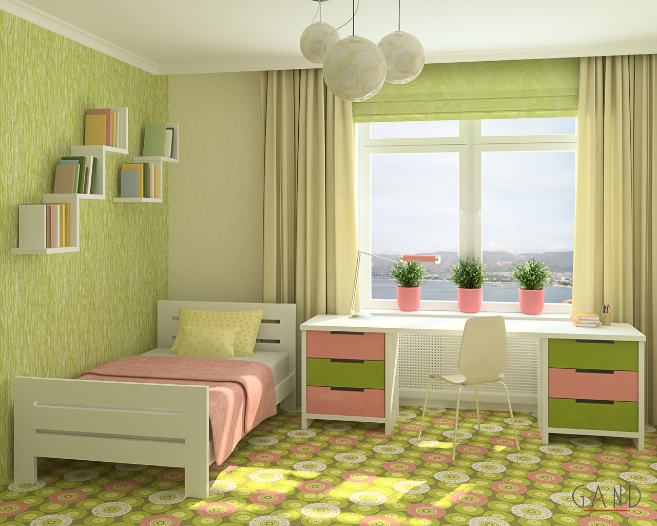 green bedromm