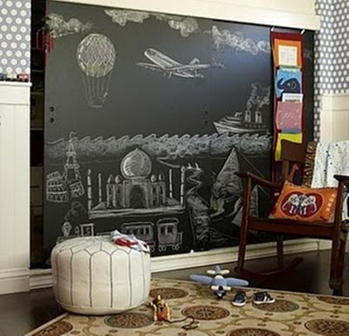 wall blackboard