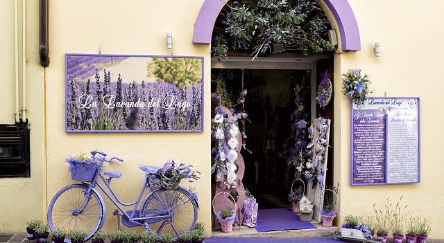 μωβ ποδήλατο