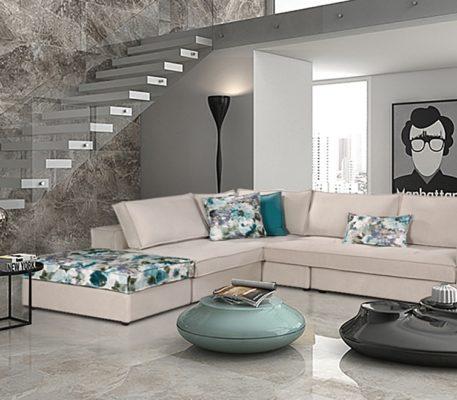 Οικονομικός γωνιακός καναπές Peggy
