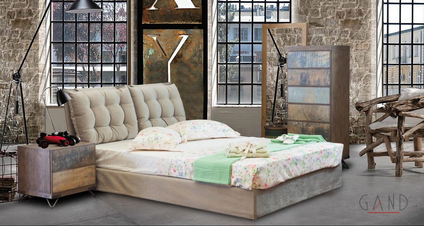 Επενδυμένο κρεβάτι Μαξιλάρες 511166