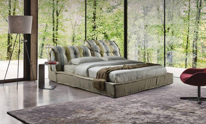 Κρεβάτι επενδυμένο Dina