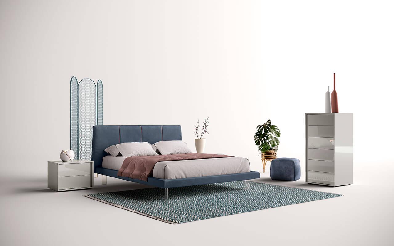 Κρεβάτι επενδυμένο Fure