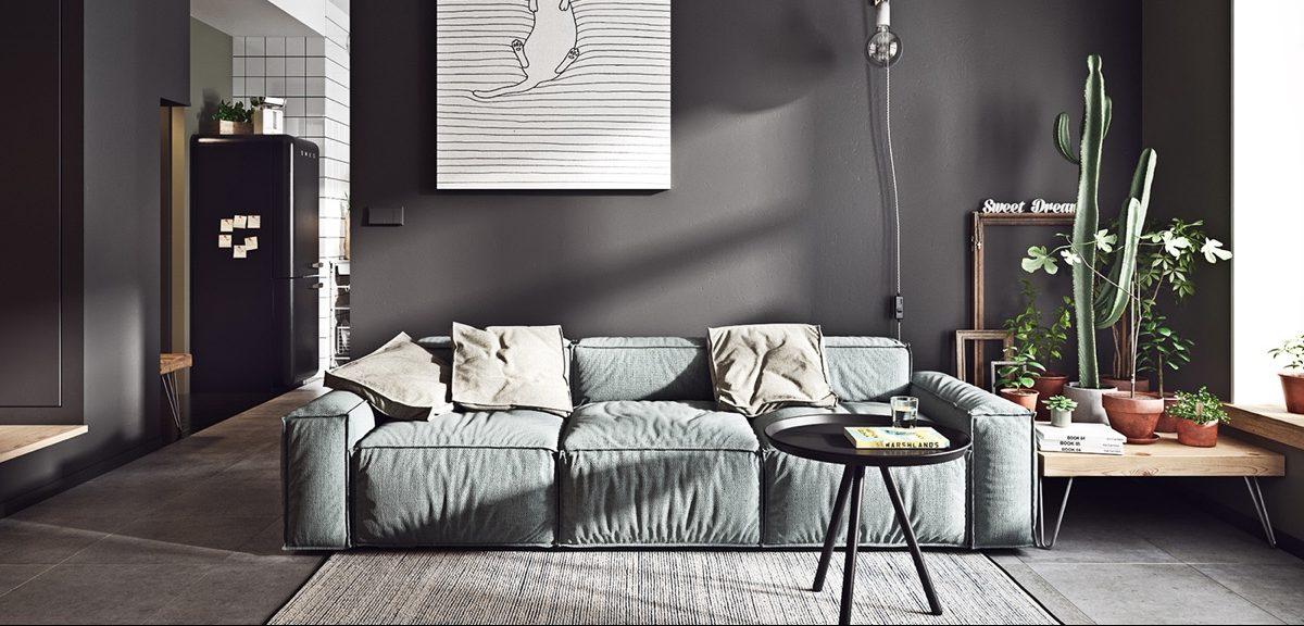 Τριθέσιος καναπές Box